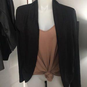 Aeropostale Black Cocoon Open Cardigan Sweater XL